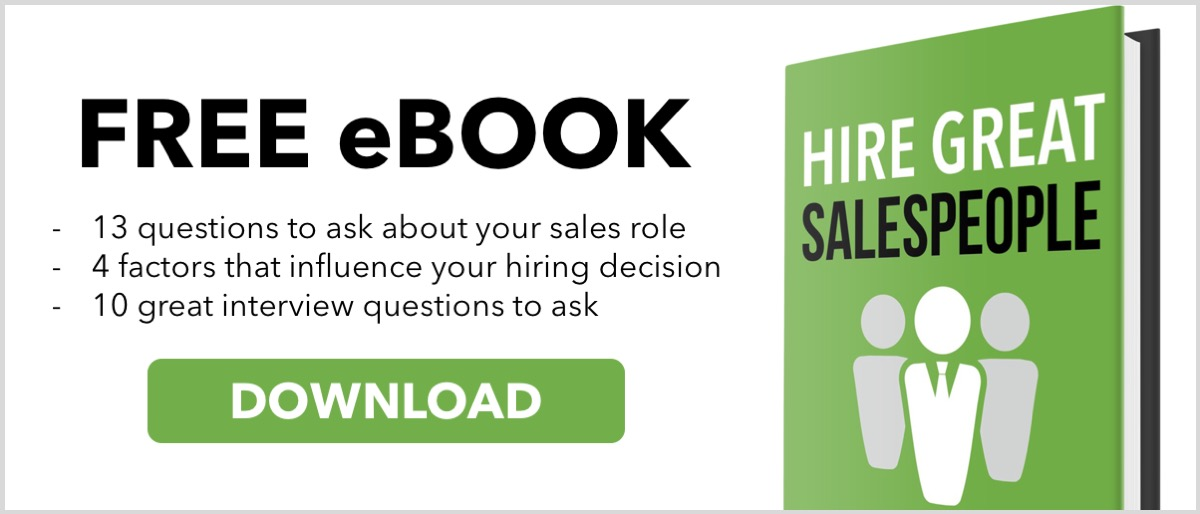 Free eBook - Hire Great Salespeople